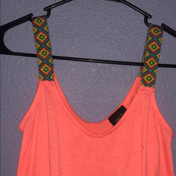 Rue21 Tops Corral Rue 21 Tribal Strapped Tankcrop Top Poshmark